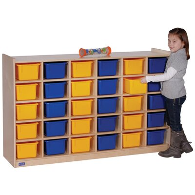 Steffy Wood Products Mobile 30 Compartment Cubby