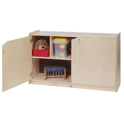Steffy Wood Products Two-Shelf Mobile Storage Unit With Doors