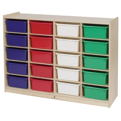 Steffy Wood Products 20-Tray Storage Unit