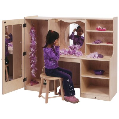 "Steffy Wood Products Children's 48"" One-Piece Vanity with Closet"