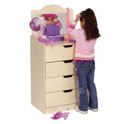 Steffy Wood Products 4-Drawer Dresser with Mirror