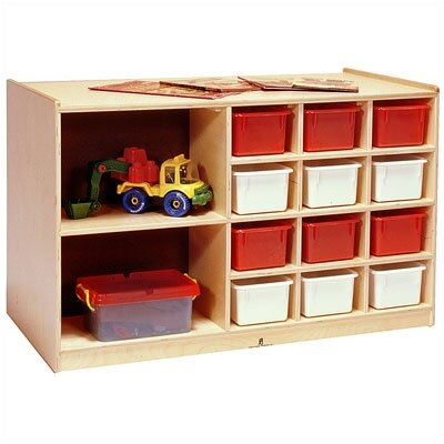 Steffy Wood Products Double-Sided Storage Cabinet