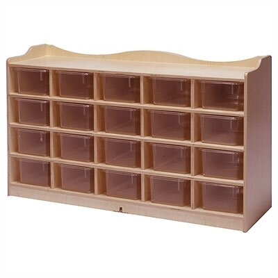 Steffy Wood Products 20-Tray Mobile Cubbie Unit