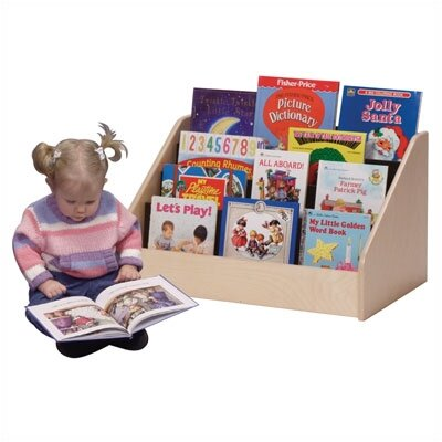 "Steffy Wood Products Low Toddler 15"" Book Display"
