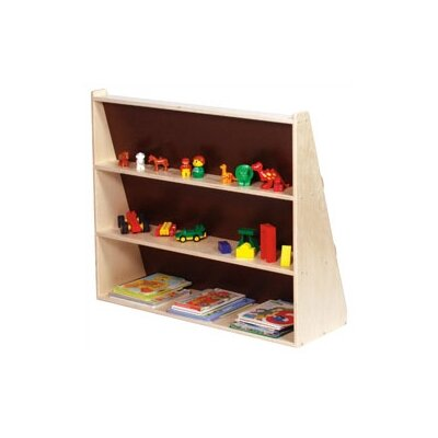 Steffy Wood Products Book Display Unit with Rear Shelves