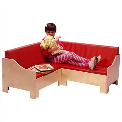 Steffy Wood Products Corner Kid's Sofa