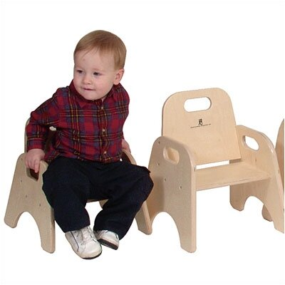 "Steffy Wood Products 7"" Wood Classroom Toddler Stackable Chair"