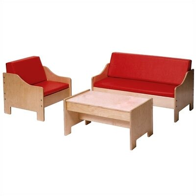 Steffy Wood Products Kids' 3 Piece Table and Chair Set
