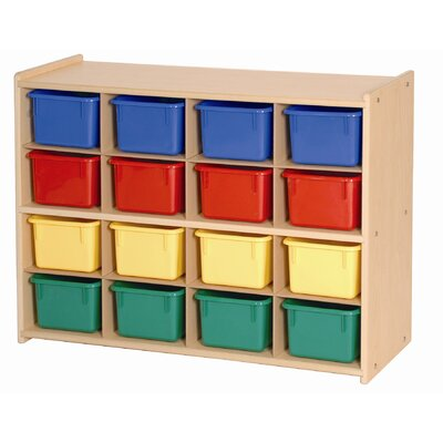 Steffy Wood Products 16 Tray Storage Unit