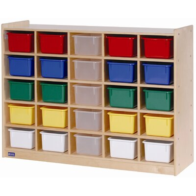 Steffy Wood Products 25 Tray Cubby Storage with Tray