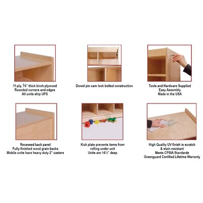 Steffy Wood Products Multi-Section Storage