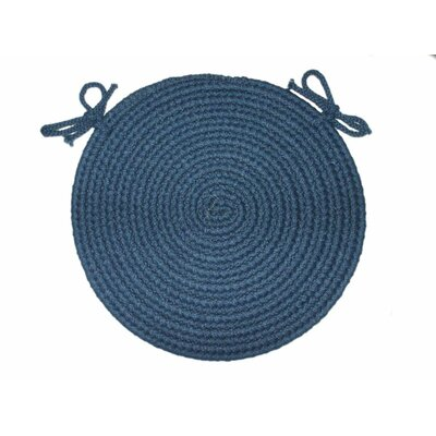 Rhody Rug Braided Hook Round Chair Pad