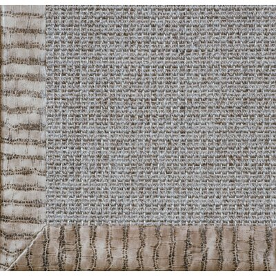 Fibreworks Paradise Retreat Jumbo Boucle Embossed Leather Ninja Camel Bordered Rug
