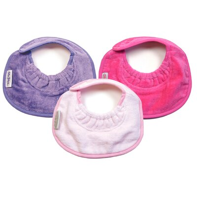 Silly Billyz Girl Newborn Bibs 3 Pack in Lilac / Pale Pink / Fuchsia