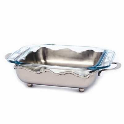 Nickel Crown Square Server with 1.9 Qt. Baker