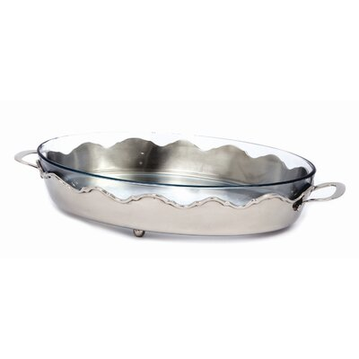 Nickel Crown Oval Server with 4.2 Qt. Baker