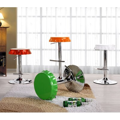 International Design USA Soda Cap Adjustable Metal Bar Stool