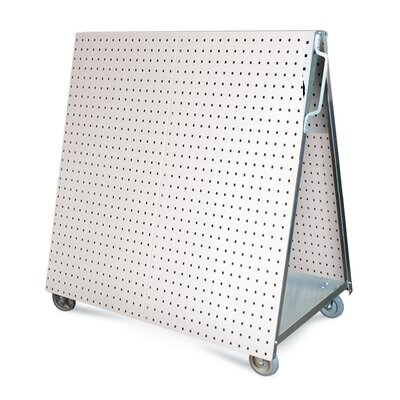 LocBoard Aluminum Frame Tool Cart with Tray
