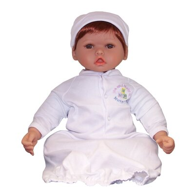 "Molly P. Originals 20"" Nursery Collection Baby Doll Medium Reddish Honey / Brown Eyes"