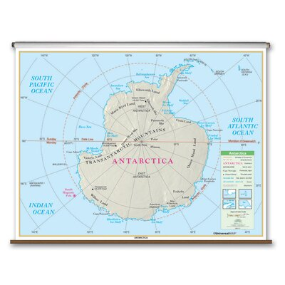 Universal Map Essential Wall Map - Antarctica