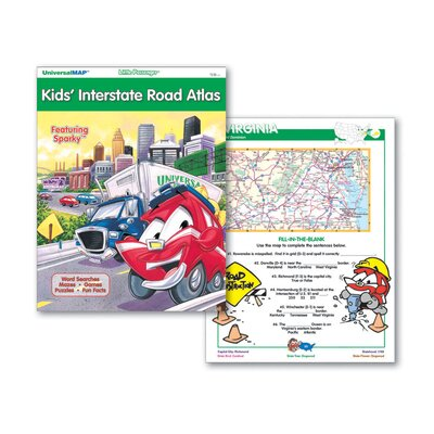 Universal Map Kids' Interstate Road Atlas