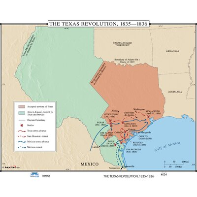 Universal Map U.S. History Wall Maps - Texas Revolution