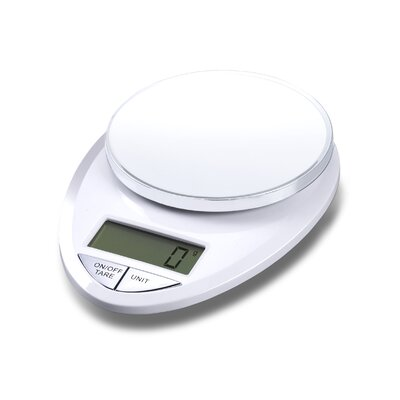 Precision Pro Digital Kitchen Scale in White