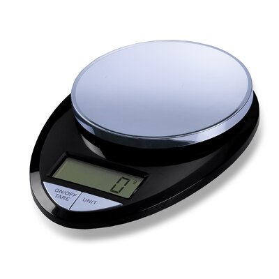 Precision Pro Digital Kitchen Scale in Black / Chrome
