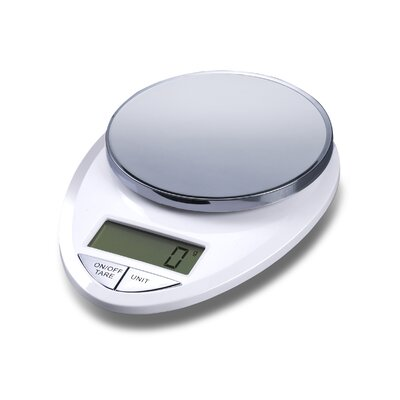Precision Pro Digital Kitchen Scale in White / Chrome