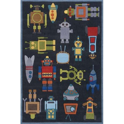 Momeni Lil' Mo Whimsy Steel Blue Kids Rug