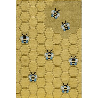 Momeni Lil' Mo Lil Mo Whimsy Honey Bee Kids Rug