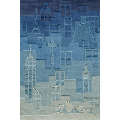 Momeni Lil' Mo Lil Mo Hipster Blue Farm Land Kids Rug