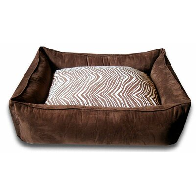 Lounge Dog Bed in Chocolate Brown Zebra