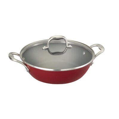5-qt Cast Iron Round Braiser Pan with Lid