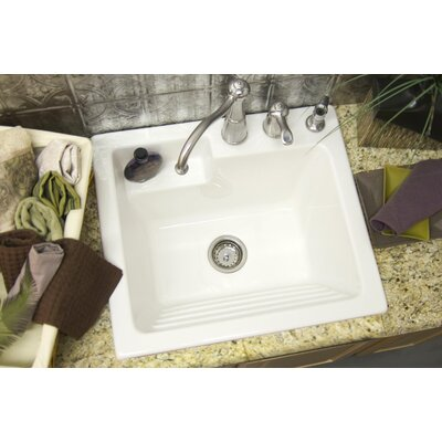 "CorStone Advantage Series Westerly 25"" x 22"" Self Rimming Laundry Sink"