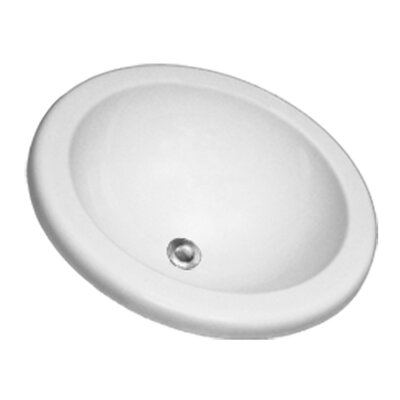 Advantage Series Clio Self Rimming or Undermount Round Bathroom Sink - 98