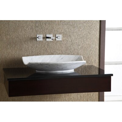 Xylem Cradle Marble Vessel Bathroom Sink