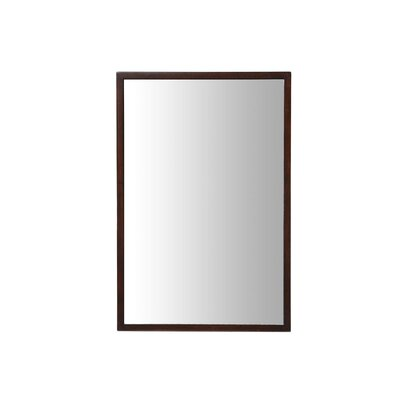 "Xylem Blox 40"" Mirror in Dark Walnut"
