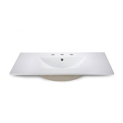 "Xylem 37"" Vanity Top with Square Bowl"