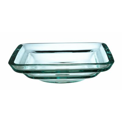 Transparent Tiered Square Glass Vessel Bathroom Sink - GV101TSQ