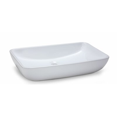 Rectangular Vitreous China Vessel Bathroom Sink - CVE237RC