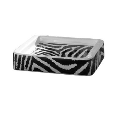 Gedy by Nameeks Safari Soap Holder in Black and White Zebra Print