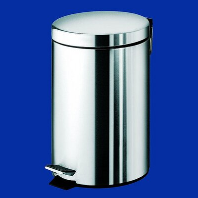 Gedy by Nameeks Argenta Small Pedal Waste Bin in Stainless Steel