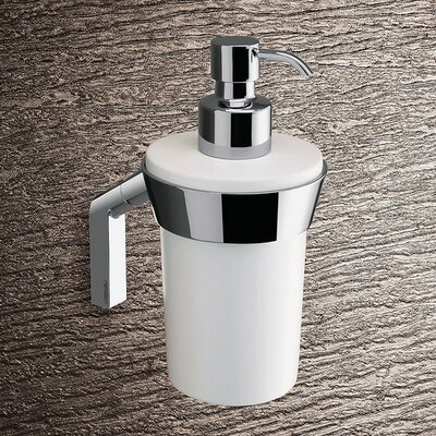 Gedy by Nameeks Karma Wall Mounted Soap Dispenser in Bright White and Chrome