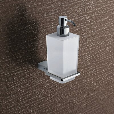 Gedy by Nameeks Kansas Wall Mounted Matte Glass Soap Dispenser in Chrome