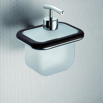 Gedy by Nameeks Odos Wood Wall Mounted Soap Dispenser in Wenge