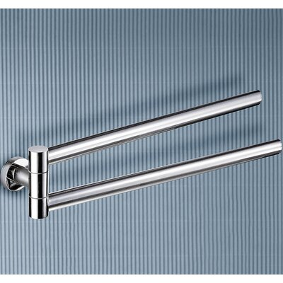 Gedy by Nameeks Demetra Jointed Double Towel Bar in Chrome