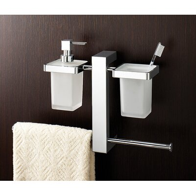 Gedy by Nameeks Bridge Wall Mounted Bathroom Butler in Chrome