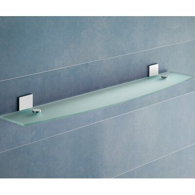 Gedy by Nameeks Glass Shelf with Chrome Hardware
