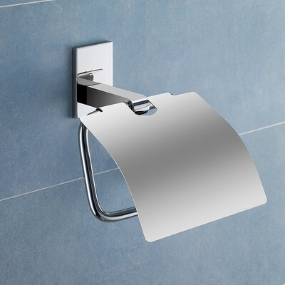 Gedy by Nameeks Maine Toilet Paper Holder with Cover in Chrome